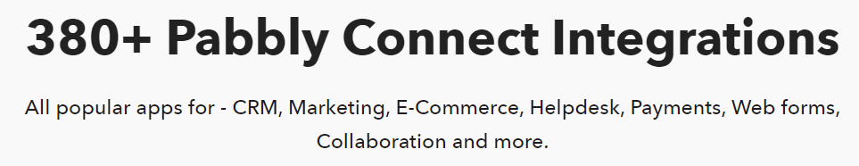Pabbly Connect Integrations